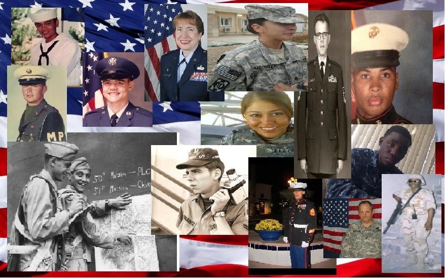Senn Bulldogs Wall of Honor Military Collage